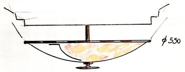 Les luminaires choisis, dessinés par l'entreprise ERL à Aubervilliers