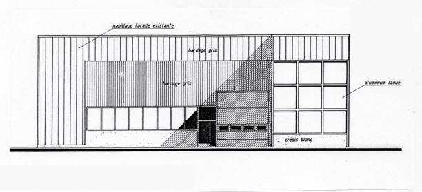 Etat projeté de la façade principale
