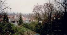 Alignement des jardins et des maisons côté Sud