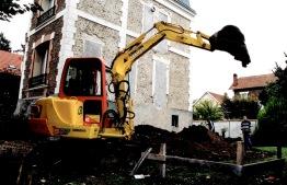 Le chantier des fondations