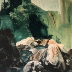 Acrylique sur mur peint, 90 cm x 200 cm