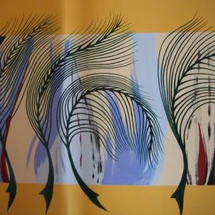 Acrylique sur mur peint, 140 cm x 210 cm