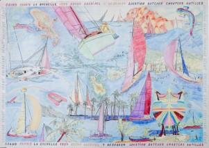 Voiles colorié par Brigitte et Claude Coriton