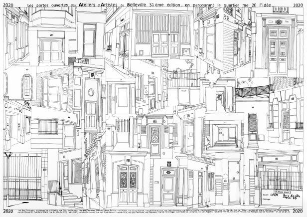 Les n°20 du parcours des portes ouvertes des Ateliers d'Artistes de Belleville