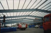 Le nouvel entrepôt en construction